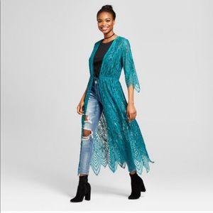 Teal Boho Kimono Xhilaration Large